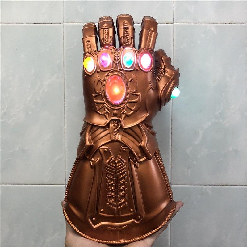 Перчатки для косплея Endgame Kingdom, перчатки со светодиодсветильник, перчатки Таноса, подарок для детей на Хэллоуин