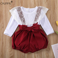 Suit Short Outfit Flower-Top Girls Toddler Infant Kid Cute Lace Casual Autumn Spring