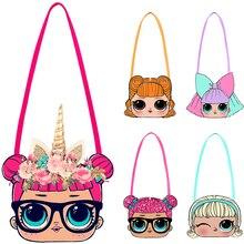 Маленький рюкзак LOL Surprise dolls 2019, женская сумка для хранения с мультипликационным рисунком, детские модные сумки для девочек с аниме, кошелек ...