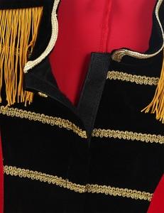 Image 4 - 4 8 yaş çocuklar erkek çocuk sirk Ringmaster kostüm standı yaka saçaklı altın süslemeler Tailcoat ceket cadılar bayramı Cosplay için