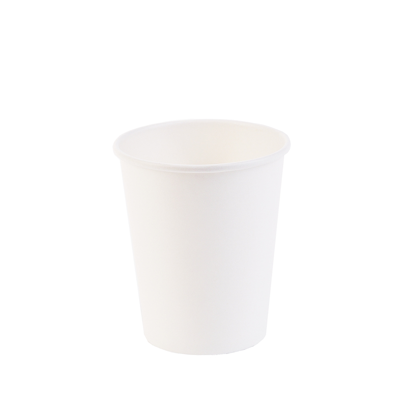 100pcs Thick White Paper Cup Disposable Tea Milk Cup Coffee Cup Party Supplies