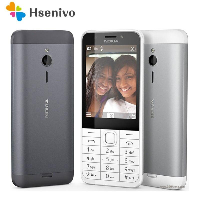 230 Original Nokia 230 Unlocked GSM 2.8 Inch Dual SIM & Single Card Cards 2MP QWERTY Keyboard English Refurbished Mobile Phone