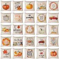 Neue INS Thanksgiving 45*45cm Herbst Kissen Abdeckung Druck Ernte Werfen Kissen Leinen Baumwolle Auto Nach Hause Dekorative Kissen abdeckung