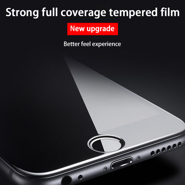 3PCS Curved Full Cover Protective Glass On The For iPhone 7 8 6S Plus Tempered Screen Protector iPhone 8 7 6 SE 2020 Glass Film