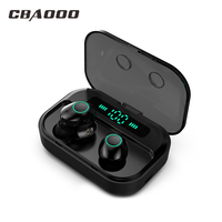 CBAOOO M7 TWS Earbus MINI HIFI Audio Bluetooth 5.0 Auricolare Stereo Senza Fili di Sport Auricolari Vivavoce Gaming Headset con Il Mic