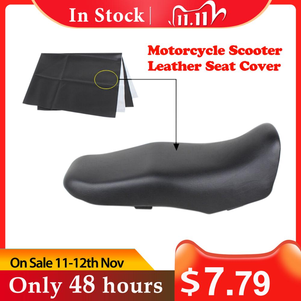 Wear-Resistant Universal Motorcycle Scooter Electric Car Leather Seat Cover Protector 90 70 cm 35 43 27 56 inch