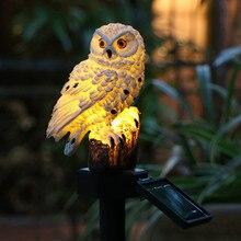 Waterproof Solar Garden Lights Owl Ornament Solar Lamp Outdoor LED Light Energy Saving Light Portable Night Light Garden Decor