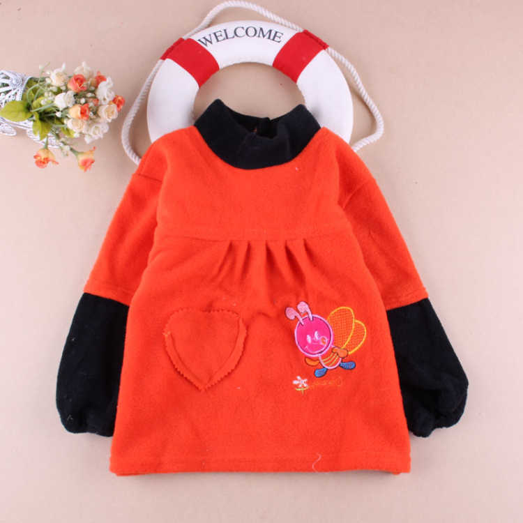 Painting Inverted Infant Single Layer Baby Clothes Dress Protective Clothing Smock Hood Coat Tops Outside Overclothes Kids Extra
