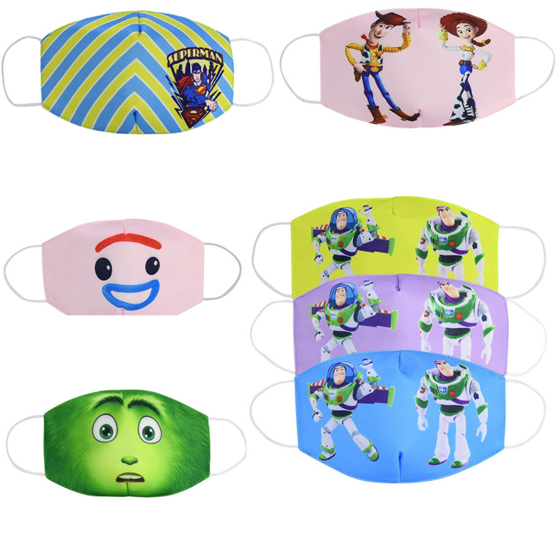 Toy Story Cartoon Lovely Masks Festive Party Respirator Unisex Cotton Super Hero Mask Camouflage Reusable Anti Dust Mouth Muffle