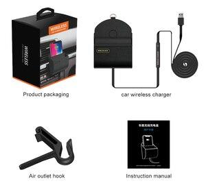 Image 5 - QI araba kablosuz şarj cihazı şarj pedi standı hava firar telefon tutucu standı Apple iphone XS Max X XR 8 artı Samsung S9 S8 S10