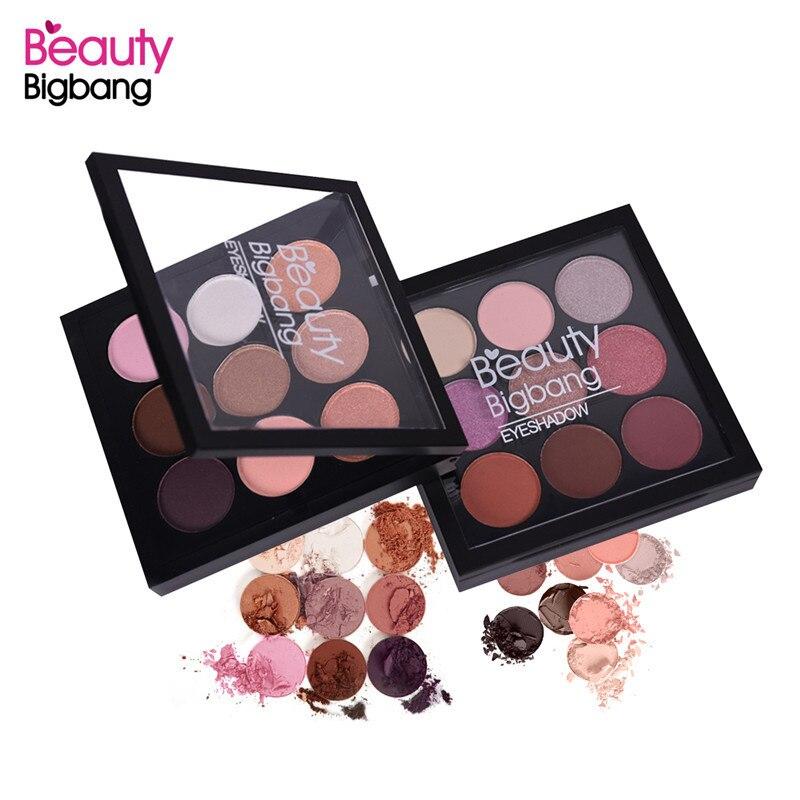 BeautyBigBang 9 Cores Sombra Paleta de Sombra Matte Shimmer Maquiagens Cienie Fazer Powiek Sombra de Olho Maquiagem Paleta de Sombras