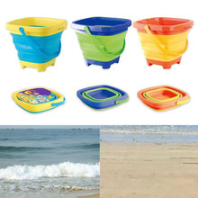 Toys Bucket Telescopic Beach-Water-Toy Portable Summer Children for Soft Plastic Folding
