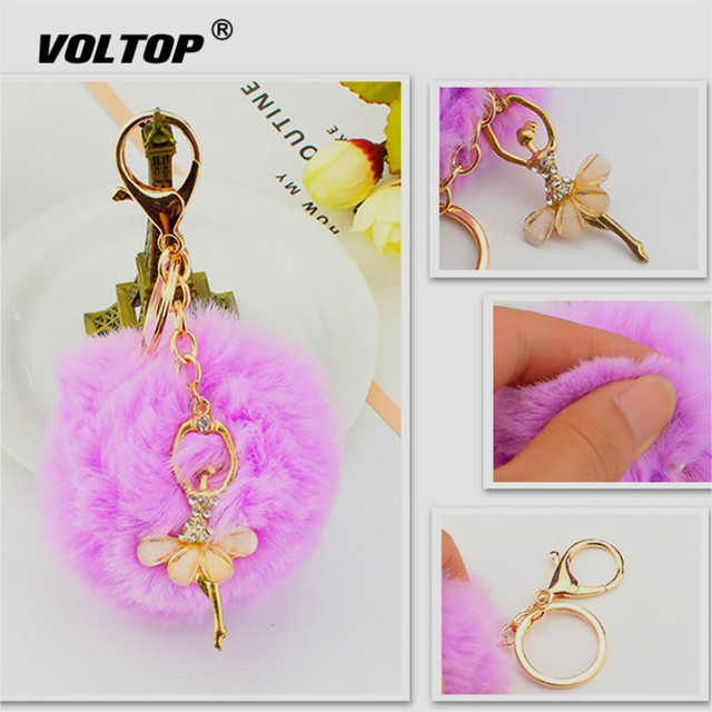 Ballet Meisje Auto Accessoires voor Vrouwen Parfum Fles Hanger Kerst Crystal Interieur Ornament Decoratie Konijn Haar Bal