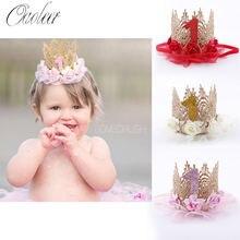 Oaoleer милые детские повязки на голову 1 год прекрасная Корона