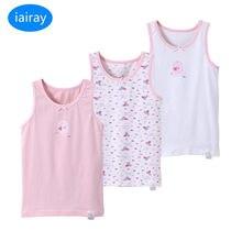 Iairay 3 – débardeurs d'été en coton pour filles, t-shirt sans manches pour enfants, maillot de corps rose et blanc, sous-vêtements à la mode, pièces/ensemble