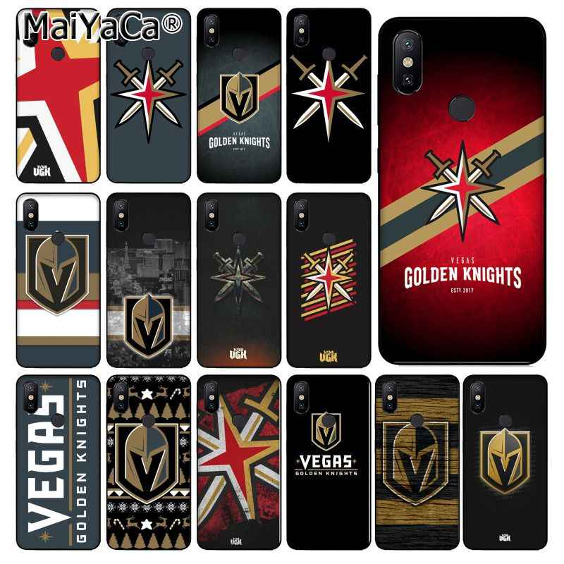 MaiYaCa Vegas Golden Knights Silicone TPU Soft Phone Case for xiaomi mi 6  8 se note2 3 mix2 redmi 5 5plus note 4 5 5 cover