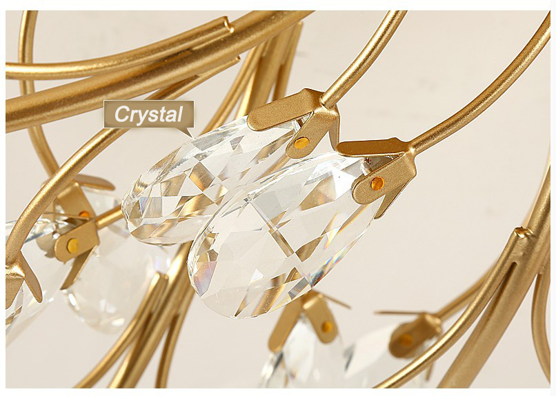 Modern ceiling light for living room led Crystal ceiling lamp bedroom crystal lamps dining gold loft lighting Crystal Fixtures