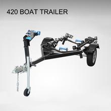 Boat Accessories Trailer Motorboat Speedboat Yacht Frame Assault Fishing Cart Transporter