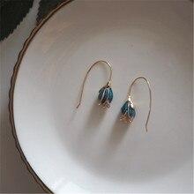 925 sterling silver Stud earrings Blue demon ji joker flower Womens fashion jewelry