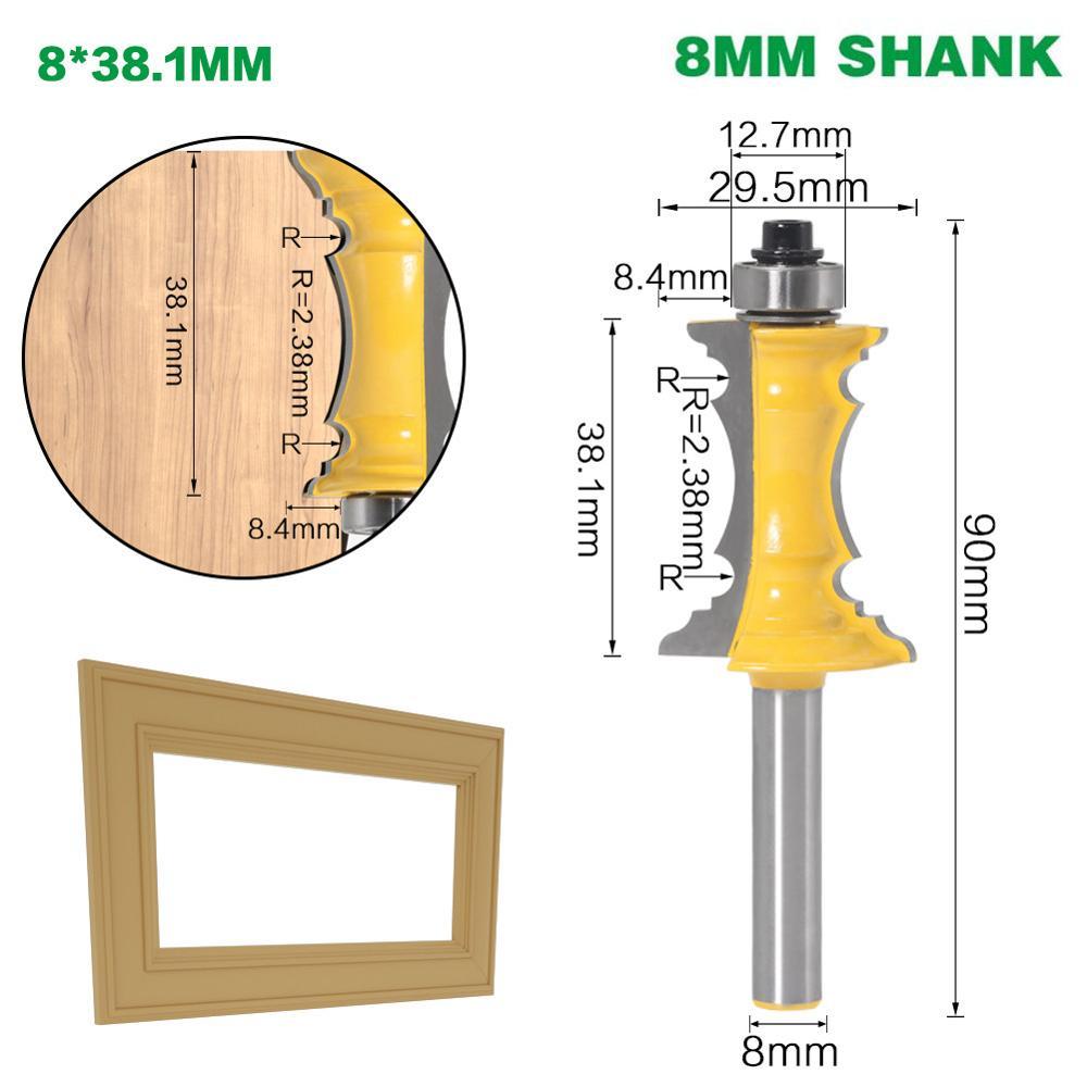 Фреза по дереву, хвостовик 8 мм, 1-1/2 дюйма, 1 шт.