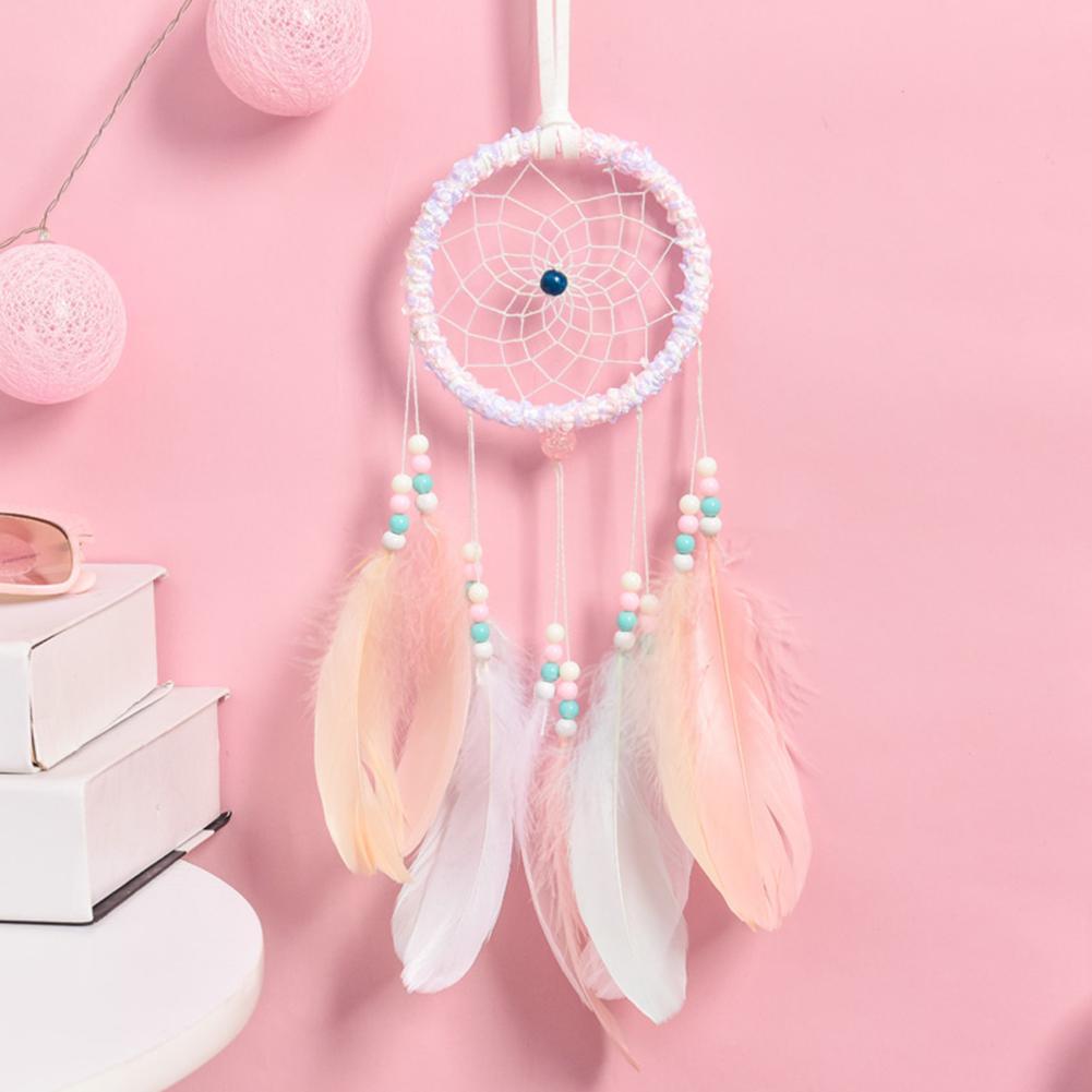 Dream Catcher Mädchen Schlafzimmer Anhänger Led Licht Feder Einfache Freundin Geburtstag Geschenk Hause Dekoration Geschenk