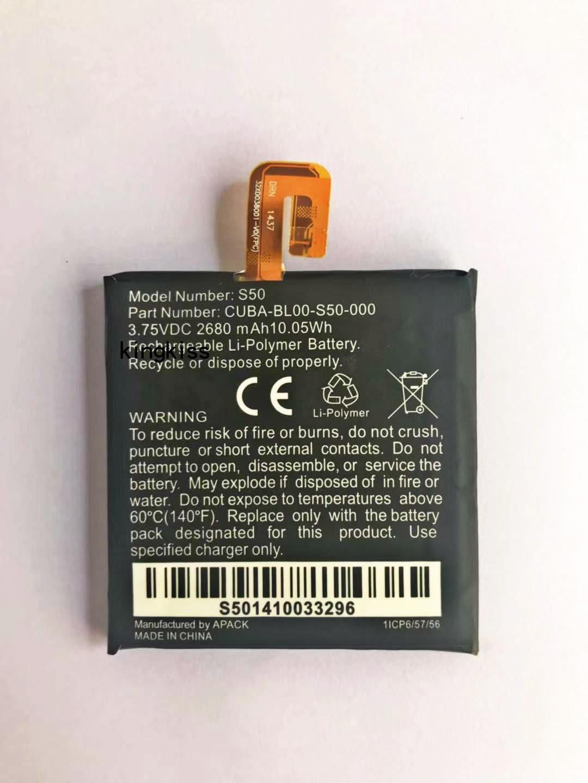 100% Original 2680mAh Replacement For Caterpillar CAT S50 Battery  CUBA-BL00-S50-000 Batteries Bateria