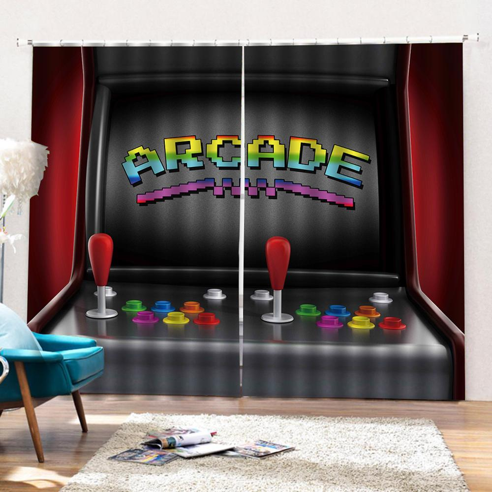 Customized Size Funny Video Game Gaming 3d Window Curtains For Living Room Bedroom Game Curtains Luxury Blackout Drapes Curtains Aliexpress