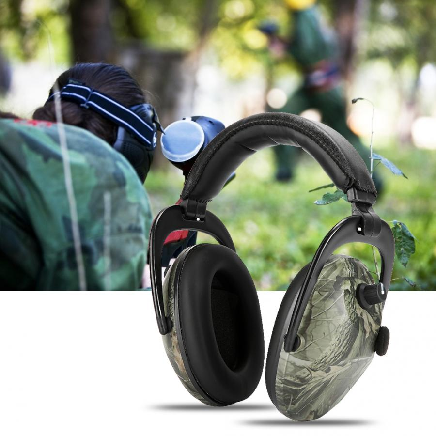 Electronic Tactic Shooting Ear Protection Earmuffs Anti noise Ear Protector NRR 28db Hearing Protector Headphones Soundproof hotEar Protector   -