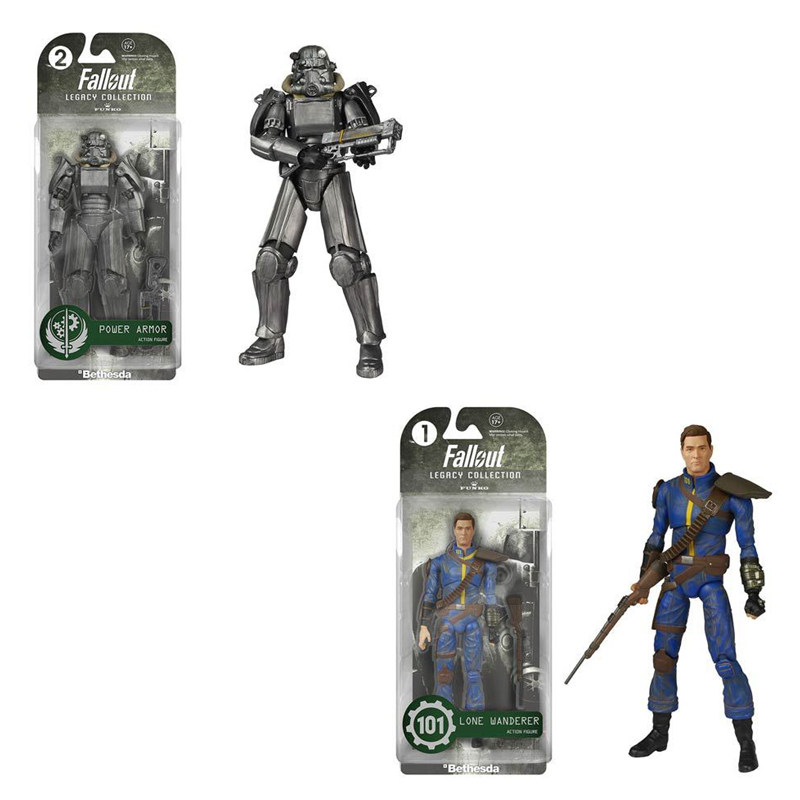 Fallout 4 Power Armor Lone Wanderer Action Figures Model Doll Toys for Birthday Gift image