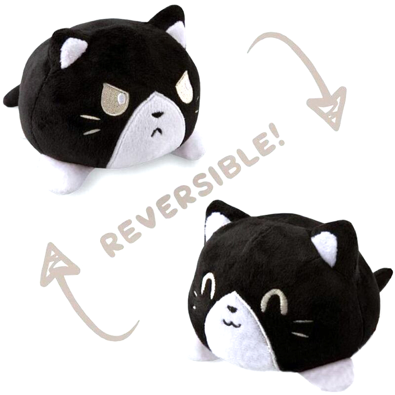 Reversible Flip Cat Plush Stuffed Toy Soft Animal Home Accessories Cute Animal Doll Children Gifts Baby Companion Plush Toy