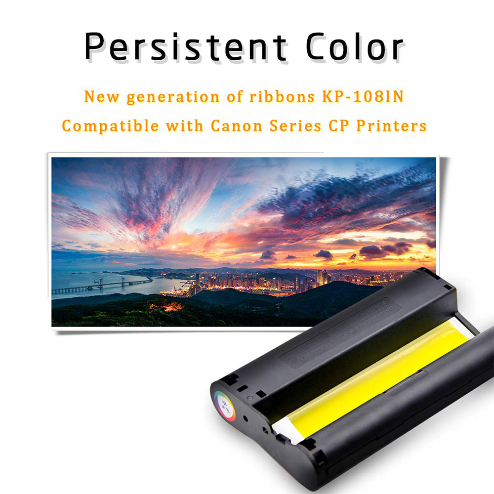 2PK KP-108IN Compatible for Canon Selphy Series Photo Printers 36 Prints  CP1300