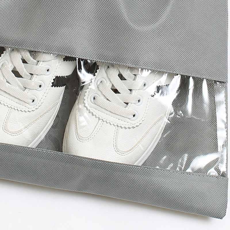 2020 Túi Đựng Giày Du Lịch Túi Di Động Giày Túi Lưu Trữ Không Dệt Giặt Organizador Di Động Túi Dây Kéo Túi Dụng