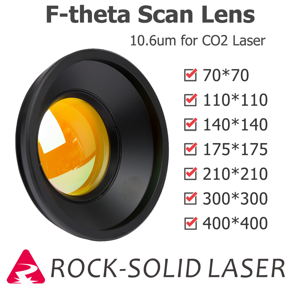 M85 CO2 F-theta Scan Lens Field Lens 10.6um 10600nm 50x50 - 600x600 FL63-650mm for CO2 Laser Marking Machine Parts