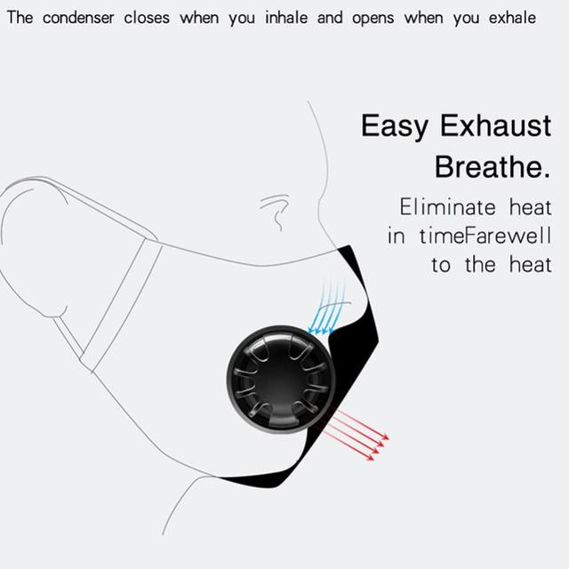 Anti Dust PM2.5 Mouth Mask With 2 Replaceable Filters Breathable Cotton Face Mask Washable Respirator Mouth-mask Adult Mask 3