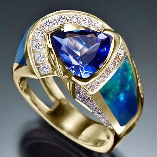 Mewah Wanita Biru Kristal Batu Cincin Fashion Silver Emas Bulat Oval Cincin Solitaire Pertunangan Pernikahan Cincin untuk Wanita
