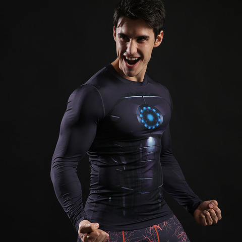 Spider-Man shirt gym shirt men running long sleeve compression shirts tight marvel t shitrs Batman superman sports t shirt brand Multan