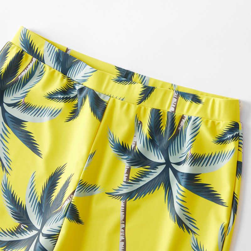 Hawaii familie swimwear bijpassende moeder dochter bikini badpak papa zoon zwembroek mama en me beachwear kleding outfits look