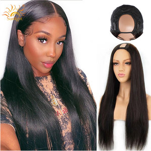 U Part Wigs Brazilian Straight Human Hair Wigs For Black Women Middle U Shape Deep Part Wigs 150 Sunlight Human Hair Wig Remy