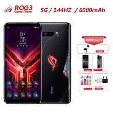 2020 yeni Asus ROG telefon 3 Strix 5G oyun akıllı telefon 12GB 128GB Snapdragon 865 6.59