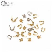Design cordial 100 pces diy jóias acessórios/feitos à mão/crimp & end grânulos/genuíno chapeamento de ouro/joias achados & componentes