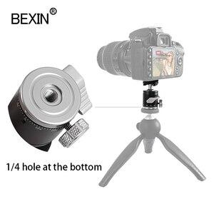 Image 4 - 三脚ヘッドミニボールヘッドパノラマヘッド撮影写真カメラスタンドアダプター一脚moutヘッドとホットシューベース用カメラ
