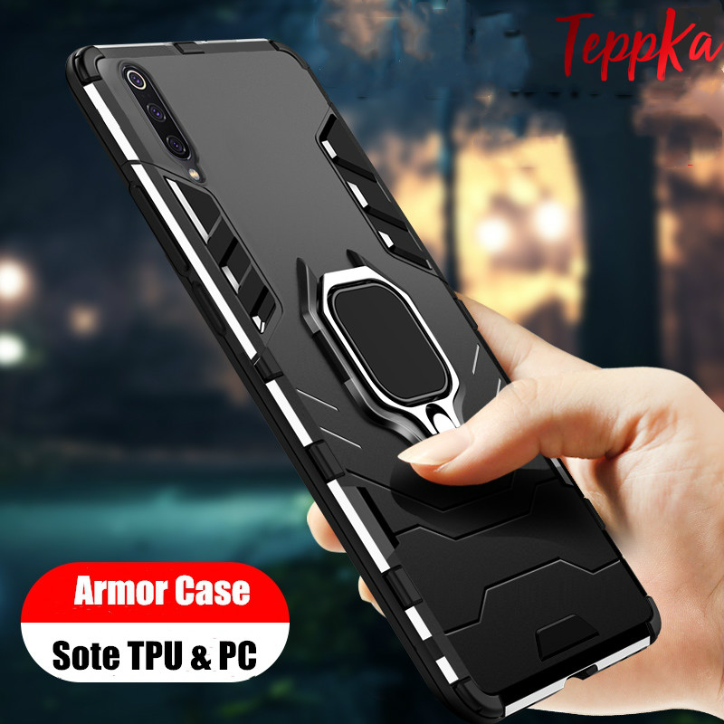 For <font><b>Samsung</b></font> <font><b>Galaxy</b></font> <font><b>A70s</b></font> M30S A50s A30S A20S A10S Phone <font><b>Case</b></font> Armor Shockproof <font><b>Ring</b></font> Holder <font><b>Case</b></font> Hard PC Soft TPU Hybrid Back Cover image