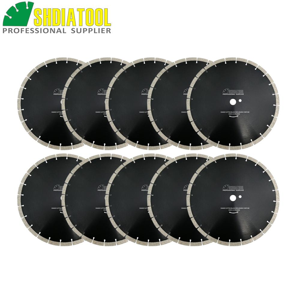"SHDIATOOL 10pcs Dia350mm/14"" Diamond Sintered Segmented Blade Cutting Disc Circular Saw Blade Diamond Wheel Disk Concrete Blade"