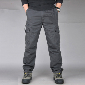 Image 2 - New Mens Cargo Pants Fashion Tactical Pants Military Army Cotton Zipper Streetwear Autumn Overalls Men Military Style Trousers