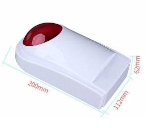Image 5 - Sgooway sirena intermitente inalámbrica, claxon Flash, luz roja, sirena estroboscópica, para nuestro sistema de alarma