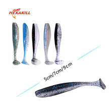 Hexakill 10pcs/lot soft lure 5cm/7cm/9cm rubber Fishing Shad Swimbaits Silicone bait Bait For perch pike