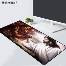 Mairuige игровой коврик для мыши рисунок Бог Иисус и дьявол
