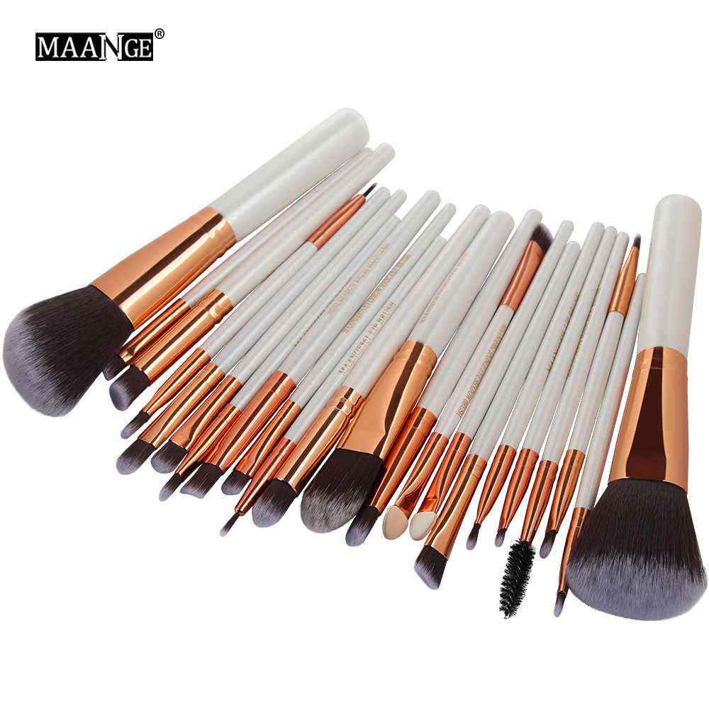 MAANGE 22 pièces petit pinceau de maquillage à fleurs pas cher ensemble complet d'outils de combinaison de brosse multifonction