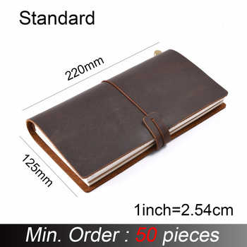 50 pieces / lot Standard Regular 220x125mm Genuine Leather Notebook Handmade Vintage Cowhide Diary Journal Sketchbook Planner - DISCOUNT ITEM  0% OFF All Category