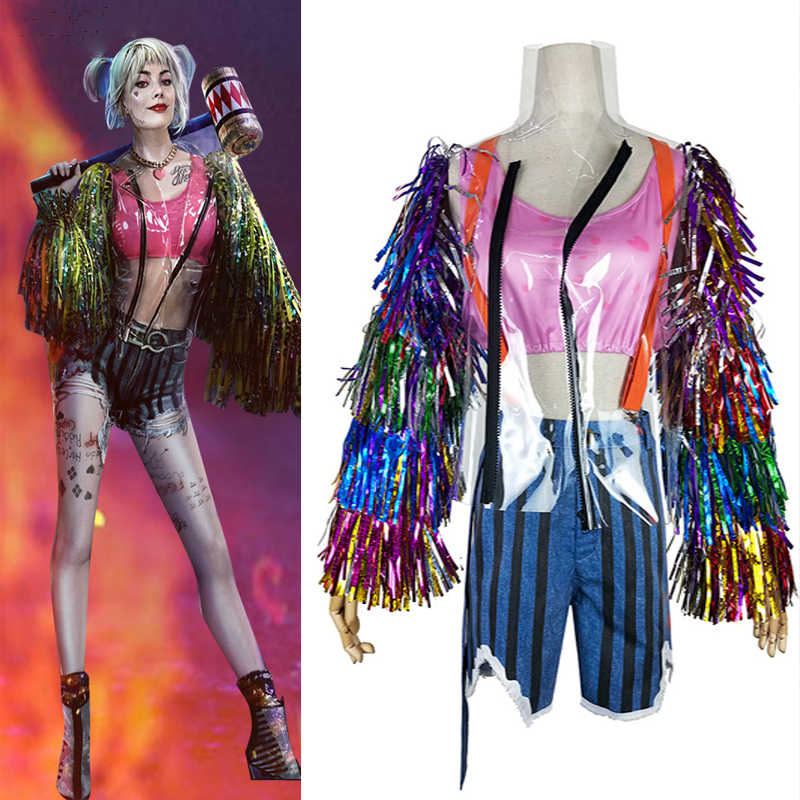 New Birds Of Prey And The Fantabulous Emancipation Of A Harley Quinn Cosplay Costume Coat Wig Props Adult Women Batman Sets Aliexpress